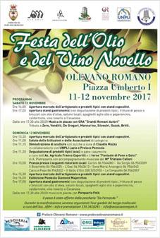 Festa dell'Olio e del Vino Novello a Olevano Romano (RM) | Sagre nel Lazio