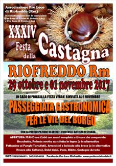 Festa della Castagna a Riofreddo (RM)   Sagre nel Lazio