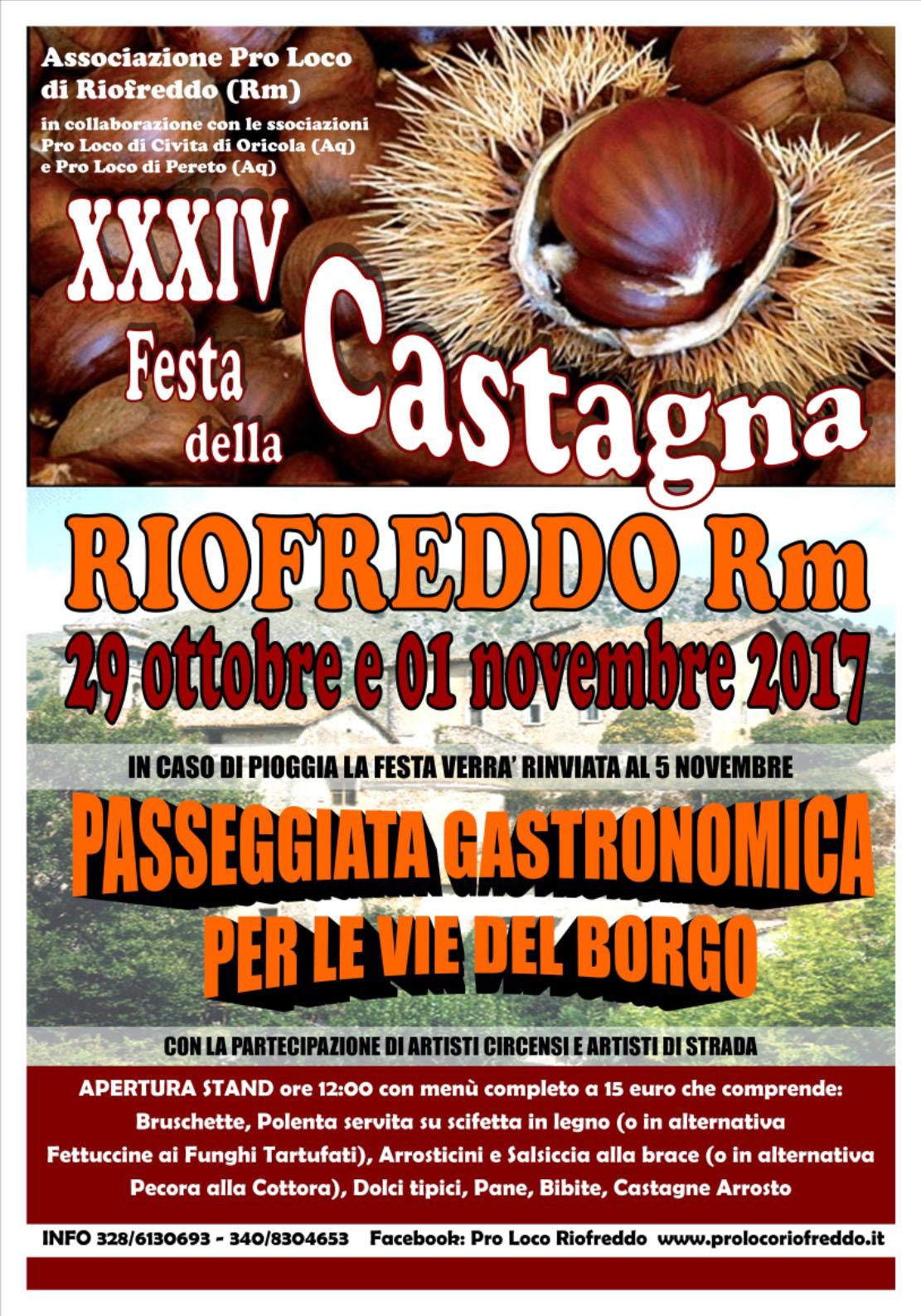 Festa della Castagna a Riofreddo (RM) | Sagre nel Lazio ...