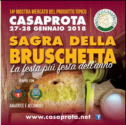 Sagra della Bruschetta a Casaprota (RI) | Sagre nel Lazio