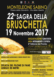 Sagra della Bruschetta a Monteleone Sabino (RI) | Sagre nel Lazio
