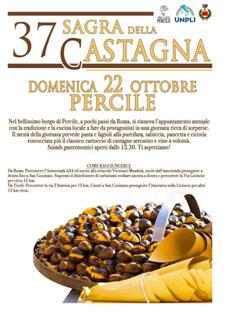 Sagra della Castagna a Percile (RM) | Sagre nel Lazio