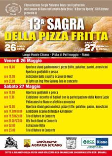 Sagra della Pizza Fritta a Riano (RM) | Sagre nel Lazio