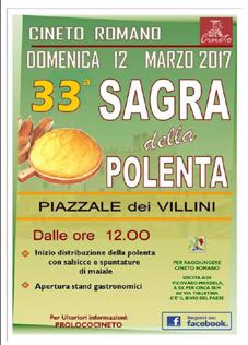 Sagra della Polenta a Cineto Romano (RM) | Sagre nel Lazio