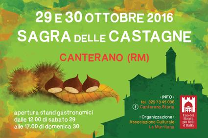 Sagra delle Castagne a Canterano (RM) | Sagre nel Lazio