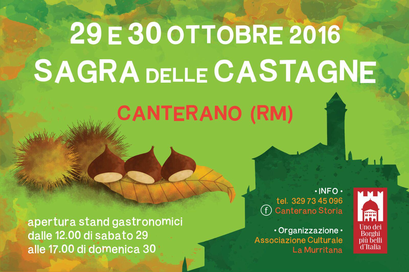 Sagra delle Castagne a Canterano   Lazio Nascosto