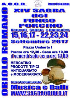 Sagra del Fungo Porcino a Oriolo Romano (VT)   Sagre nel Lazio