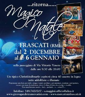 Mercatino di Natale a Frascati (RM) I Mercatini di Natale più belli del Lazio