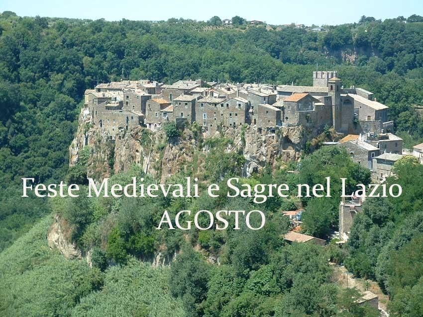 Feste Medievali e Sagre nel Lazio - Agosto