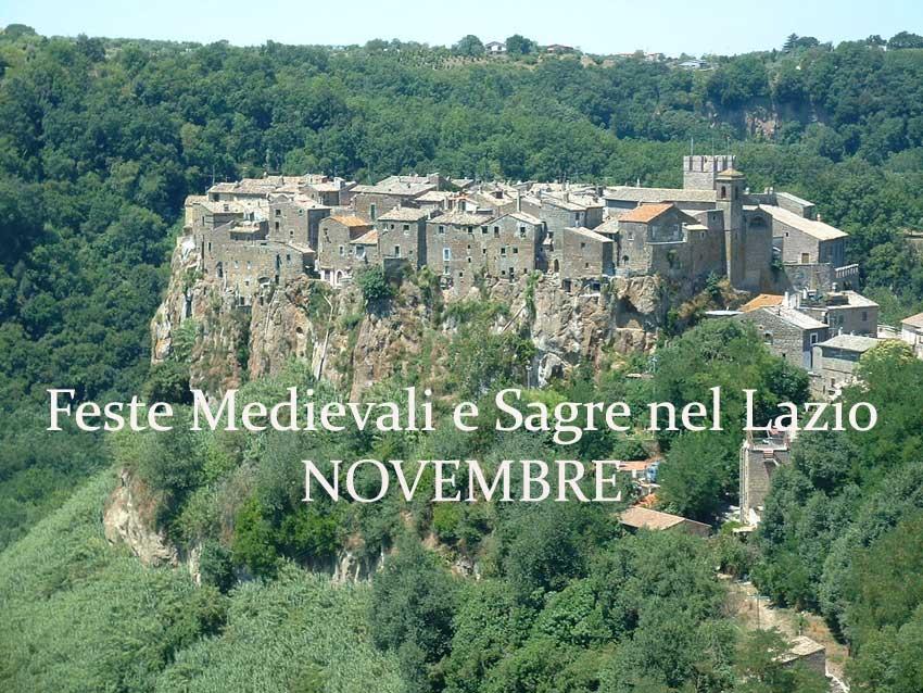Feste Medievali e Sagre nel Lazio - Novembre