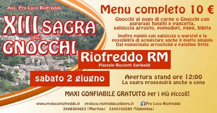 Sagra degli Gnocchi a Riofreddo (RM) | Sagre nel Lazio