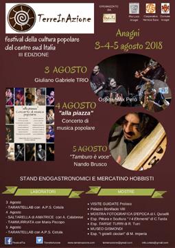 TerreInAzione 2018 ad Anagni (FR) | Eventi Musicali, Folcloristici e Cinematografici nel Lazio