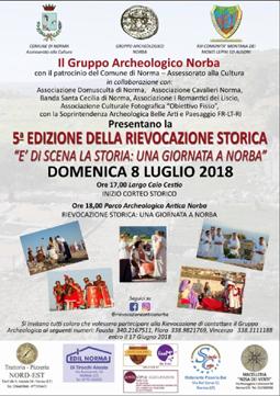 E' di Scena la Storia 2018 - Norba (Norma)   Feste Medievali e Rievocazioni Storiche nel Lazio
