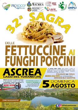 Sagra delle Fettuccine ai Funghi Porcini 2018 ad Ascrea (RI) | Sagre nel Lazio