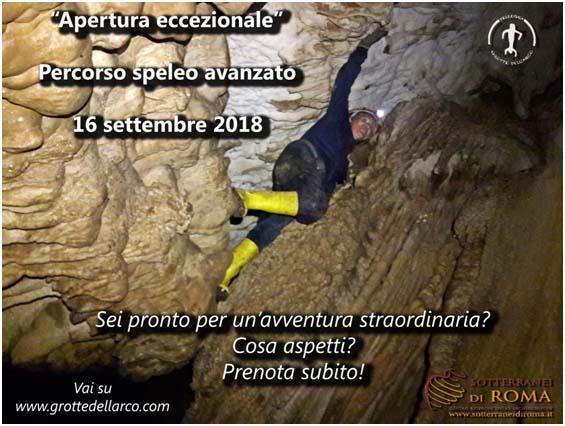 Apertura Straordinaria Grotte dell'Arco a Bellegra (RM)