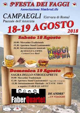 Festa dei Faggi e Sagra dello Strozzaprete 2018 a Cervara di Roma (RM) | Sagre nel Lazio