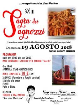 Sagra dei Sagnozzi 2018 a Riofreddo (RM) | Sagre nel Lazio