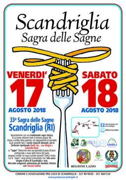 Sagra delle Sagne Scandrigliesi 2018 a Scandriglia (RI) | Sagre nel Lazio