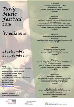 Early Music Festival 2018 a Sermoneta, Latina e Roma | Eventi Musicali, Cinematografici e Folcloristici nel Lazio