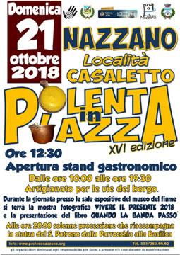 Polenta in Piazza 2018 a Nazzano (RM)   Sagre nel Lazio