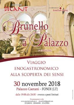 Brunello a Palazzo 2018 a Fondi | Fiere nel Lazio