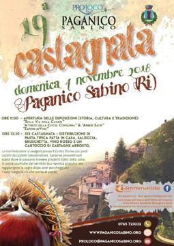 Castagnata 2018 a Paganico Sabino (RI)   Sagre nel Lazio