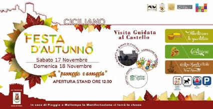 Festa d'Autunno 2018 a Ciciliano (RM) | Sagre nel Lazio
