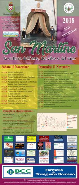 Festa di San Martino, Arte, Cibi e Vino 2018 a Formello (RM) | Sagre nel Lazio