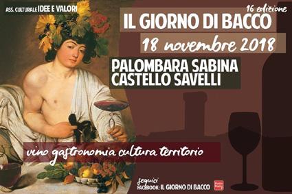 Il Giorno di Bacco 2018 a Palombara Sabina (RM) | Fiere nel Lazio