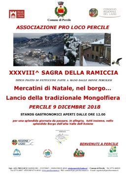 Sagra della Ramiccia 2018 a Percile (RM) | Sagre nel Lazio