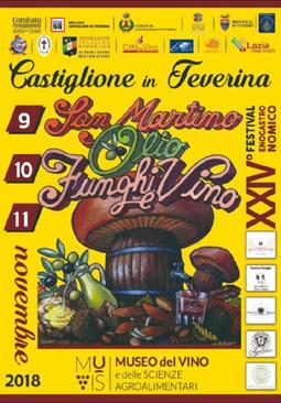 Festival enogastronomico San Martino Olio Funghi e Vino 2018 a Castiglione in Teverina (VT) | Sagre nel Lazio