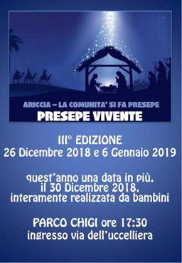 Presepe Vivente 2018 di Ariccia (RM) | Presepi Viventi e Artistici del Lazio