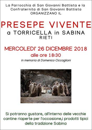 Presepe Vivente 2018 a Torricella in Sabina (RI)   Presepi Viventi e Artistici del Lazio