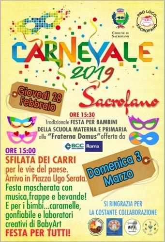 Carnevale a Sacrofano 2019 | Eventi folcloristici nel Lazio