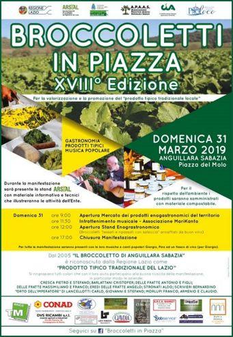 Broccoletti in Piazza 2019 ad Anguillara Sabazia (RM) | Sagre nel Lazio