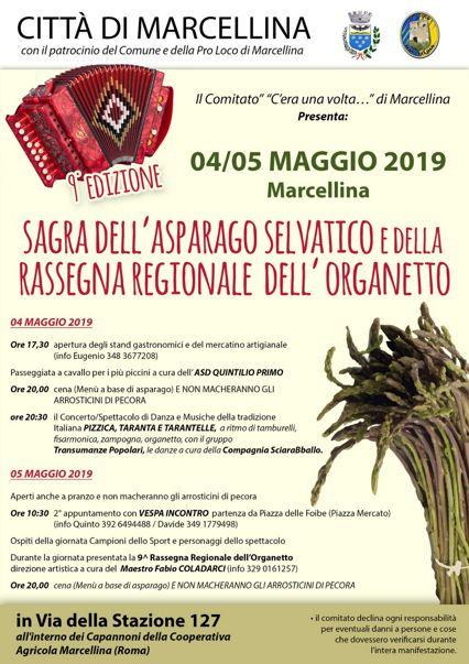 Sagra dell'Asparago Selvatico 2019 a Marcellina (RM) | Sagre nel Lazio