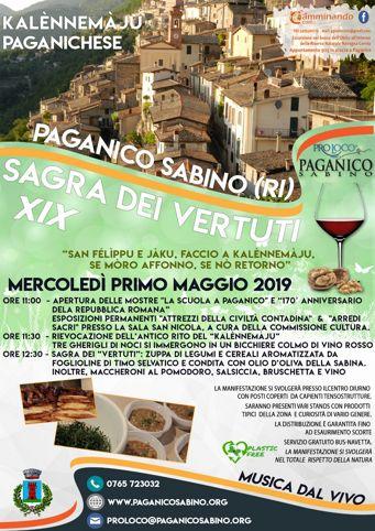Sagra dei Vertuti 2019 a Paganico Sabino (RI) | Sagre nel Lazio