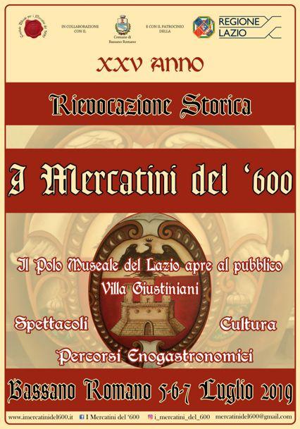 I Mercatini del '600 del 2019 a Bassano Romano (VT) | Feste Medievali e Rievocazioni Storiche nel Lazio