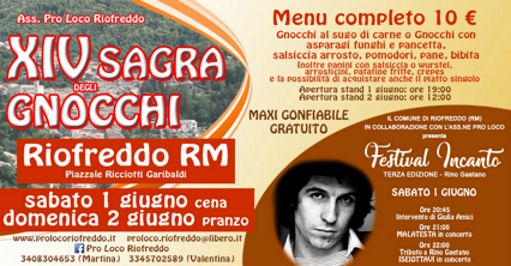 Sagra degli Gnocchi 2019 a Riofreddo (RM) | Sagre nel Lazio