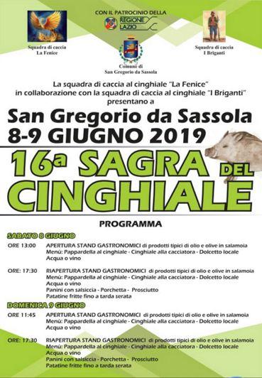 Sagra del Cinghiale 2019 a San Gregorio da Sassola (RM) | Sagre nel Lazio