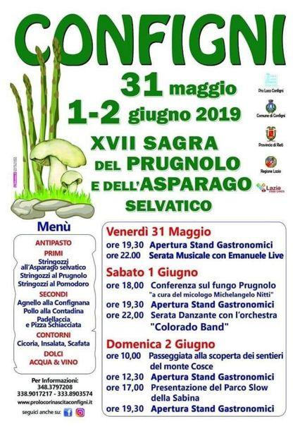 Sagra del Prugnolo e dell'Asparago 2019 a Configni (RI) | Sagre nel Lazio