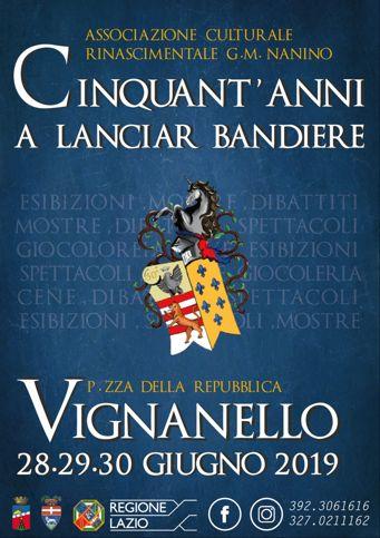 Cinquant'anni a lanciar bandiere 2019 a Vignanello (VT) | Feste Medievali nel Lazio