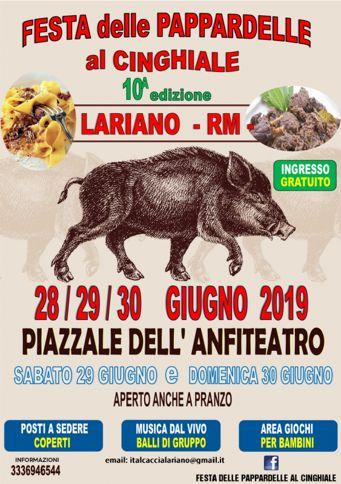 Festa delle Pappardelle al Cinghiale 2019 a Lariano (RM) | Sagre nel Lazio