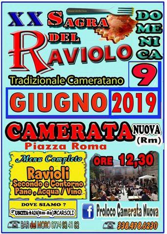 Sagra del Raviolo Cameratano 2019 a Camerata Nuova (RM) | Sagre nel Lazio