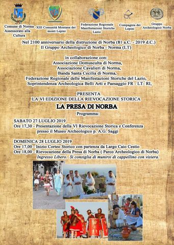 E' di Scena la Storia - La Presa di Norba 2019 - Norba (Norma) | Feste Medievali e Rievocazioni Storiche nel Lazio