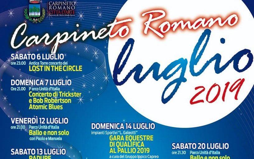 Eventi a Carpineto Romano Luglio 2019