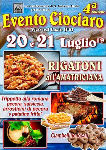 Evento Ciociaro 2019 a Vico nel Lazio (FR) | Eventi enogastronomici nel Lazio