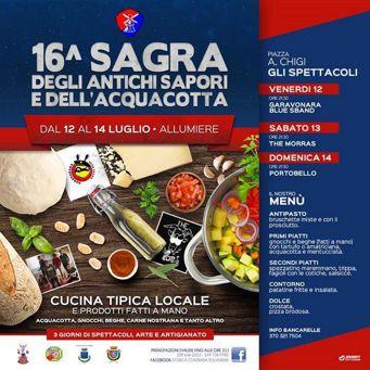 Sagra degli Antichi Sapori e dell' Acquacotta 2019 ad Allumiere (RM) | Sagre nel Lazio