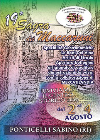 Sagra dei Maccaruni 2019 a Ponticelli Sabino - Scandriglia (RI) | Sagre nel Lazio