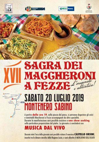 Sagra dei Maccheroni a Fezze 2019 a Montenero Sabino (RI)   Sagra nel Lazio